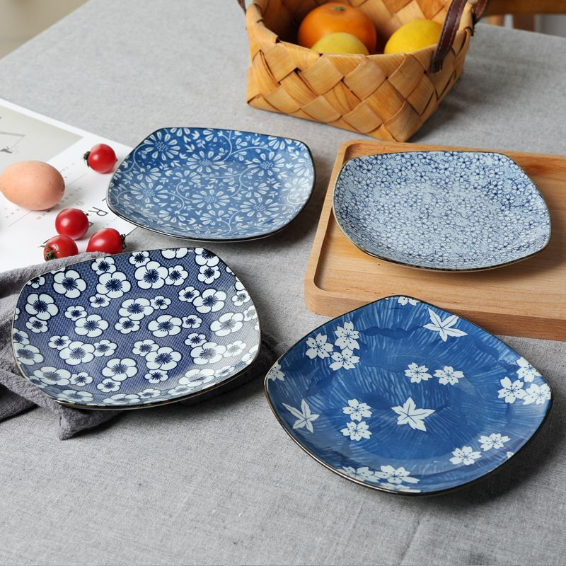 Cheap square plates Buy Quality plate ceramic directly from China plate square Suppliers Japanese-Style Underglaze Color Creative Dishes Profiledu2026 & Cheap square plates Buy Quality plate ceramic directly from China ...