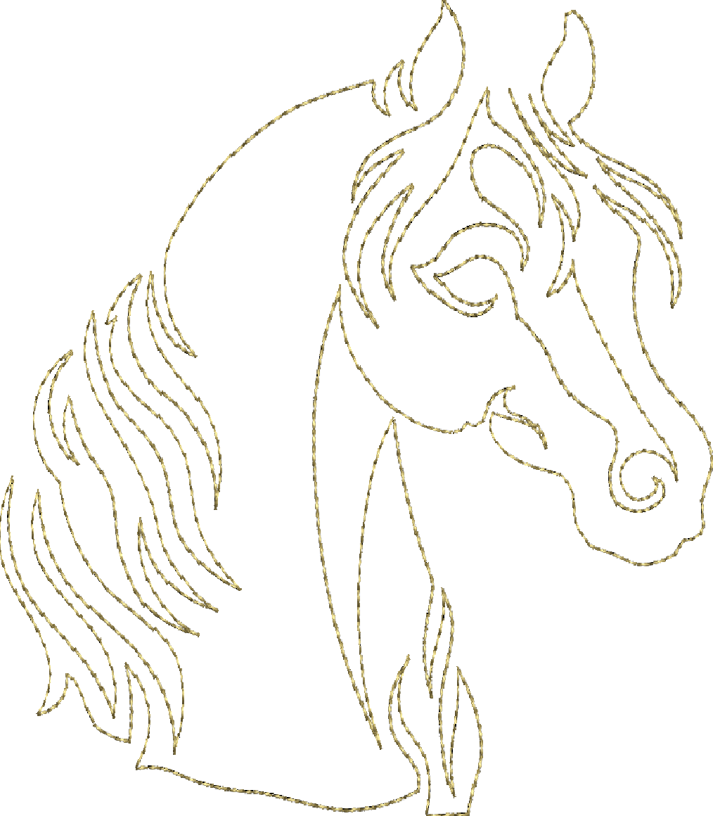 Horse Song - Continuous Single Line Quilting | moldes | Pinterest ...