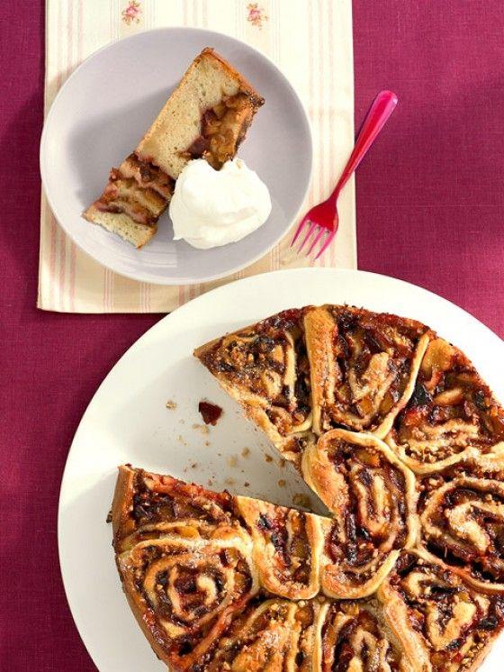 Nicht nur hübsch anzuschauen - der Zwetschgenschnecken-Kuchen schmeckt auch grandios gut!