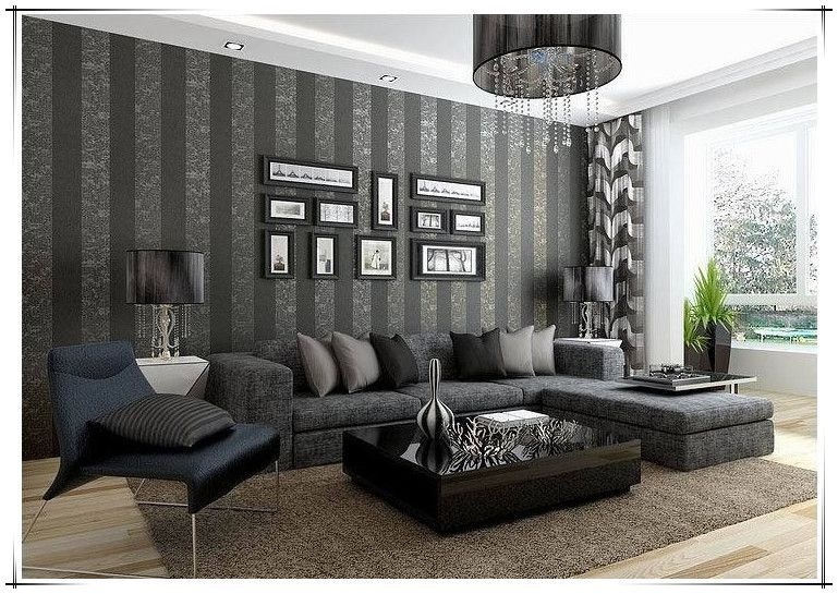 wallpaper background Picture - More Detailed Picture about Modern Fashion Dark Vertical Striped ...