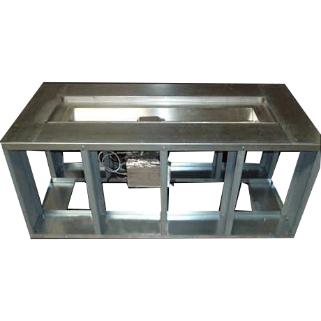 65 Electronic Ignition Fire Trough W 4 Wide Deck 4 Ft Linear Burner Fire Pit Frame Gas Fire Table Fire Pit