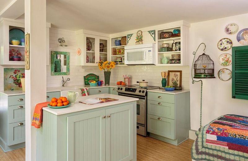 muebles cocina color verde jade   diseños de cocinas   Pinterest