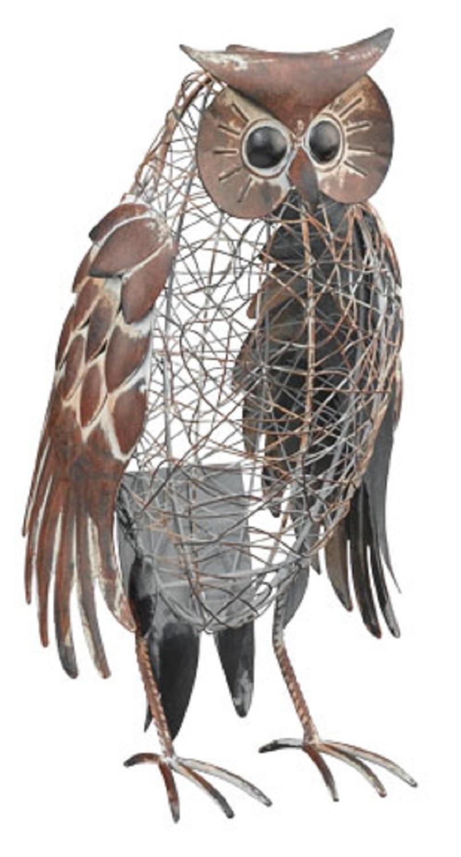 Rustic Yard Art | RUSTIC OWL METAL LAWN YARD GARDEN PATIO OUTDOOR DECOR  HOME ART .