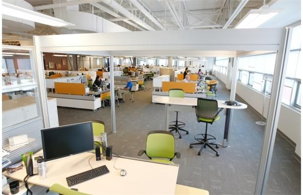 Macewan takes open concept office design to a new level for Office design open concept