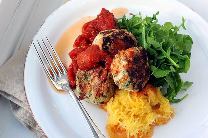 Gwyneth Paltrow's Healthy Turkey Meatballs with Spaghetti Squash