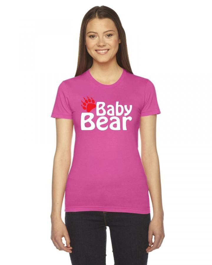 baby bear 1 Ladies Fitted T-Shirt