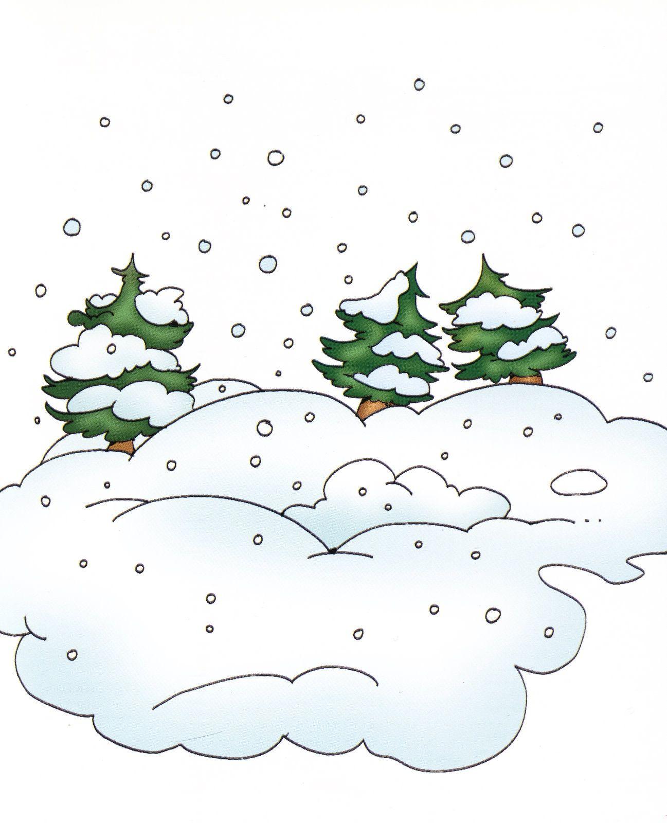 Картинка падающего снега для детей