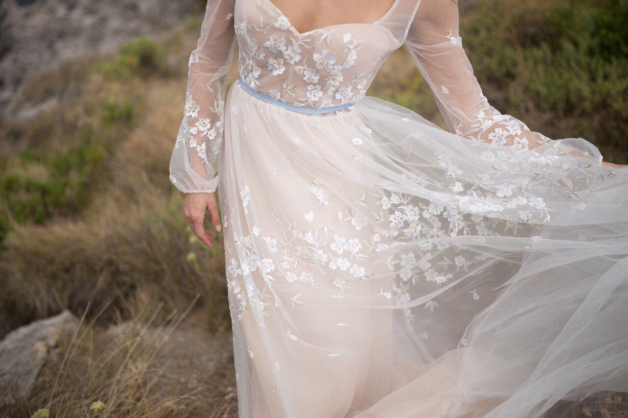 Ethereal wedding dress  Romantic Destination Wedding Dress Collection Amalfi Coast elegant