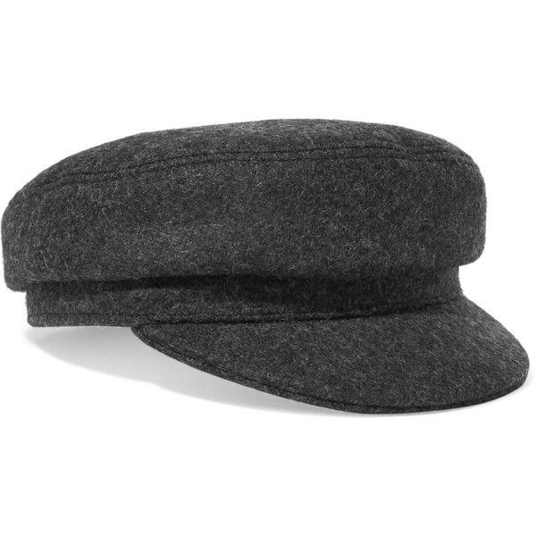 6c115cae54e Isabel Marant Evie wool-blend felt cap ( 155) ❤ liked on Polyvore  featuring. Baker BoyBraid ...