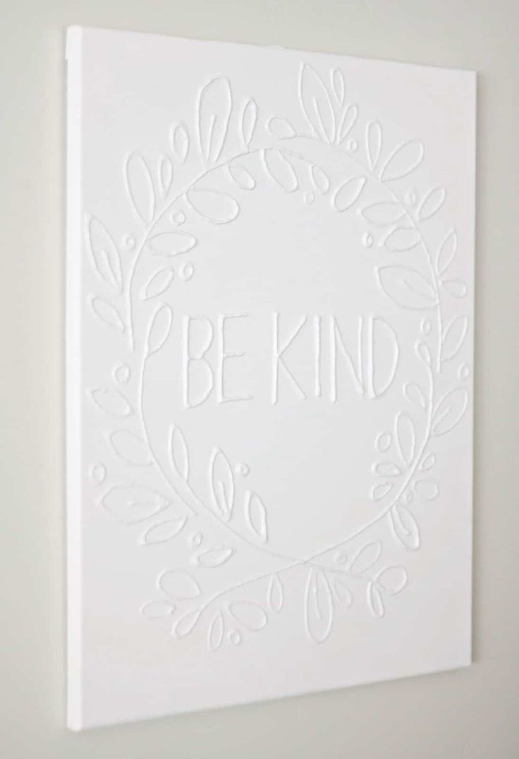 Make Canvas Wall Art with Glue in Four Easy Steps