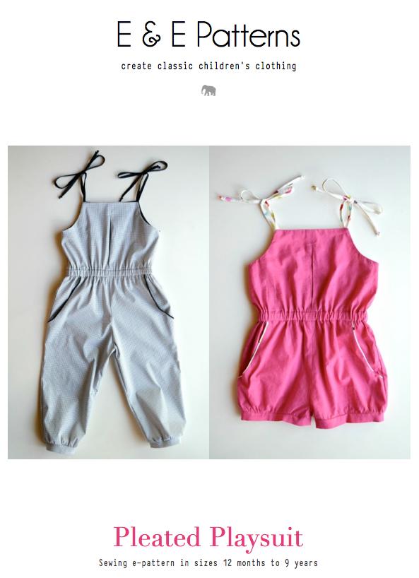 Elegance & Elephants: Pleated Playsuit Pattern | Pattern Stash ...