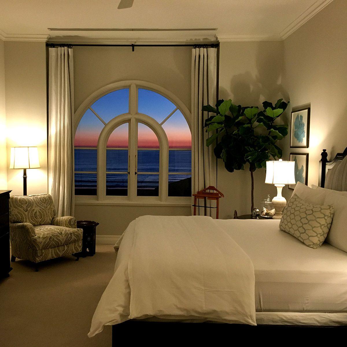 sunset from a Penthouse Suite!  Luxury beach Hotel Casa del Mar - Santa Monica, California.
