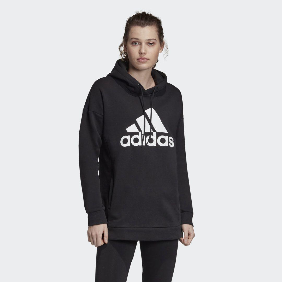 Must Haves Badge Of Sport Logo Hoodie Black Womens In 2021 Hoodies Women Hoodies Sweatshirts Adidas [ 1080 x 1080 Pixel ]