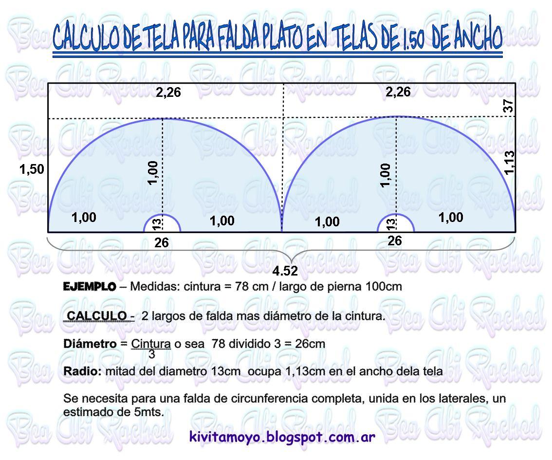 KiVita MoYo: CALCULO DE TELA PARA FALDA PLATO | tecnicas de costura ...