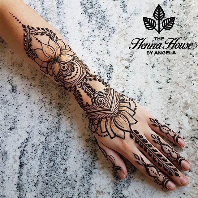 Make Your Henna Tattoo Last Longer Using Saniderm: One More Lotus Design For The Gram, And Not The Last