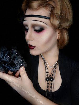 1920 S Flapper Vampire Halloween Look With Tutorial Vampire Makeup Flapper Makeup Halloween Looks