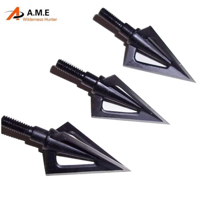 3Pcs Medieval Style Arrow Heads Broadheads Tips For Hunting Archery Traditional