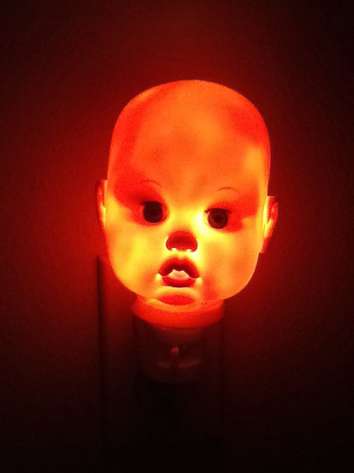 Creapy baby night light! Baby night light, Halloween fun