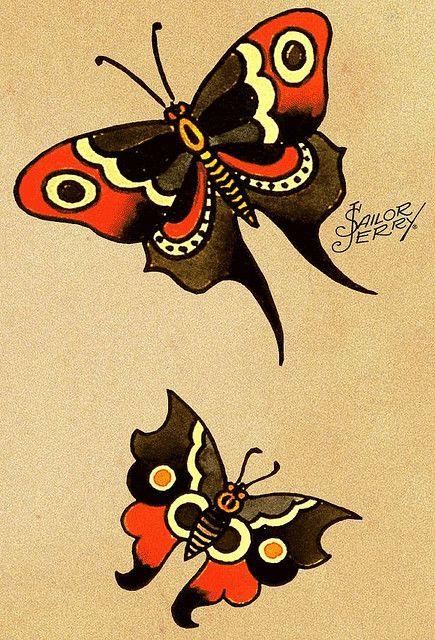 sailor jerry butterflies, my next tattoos