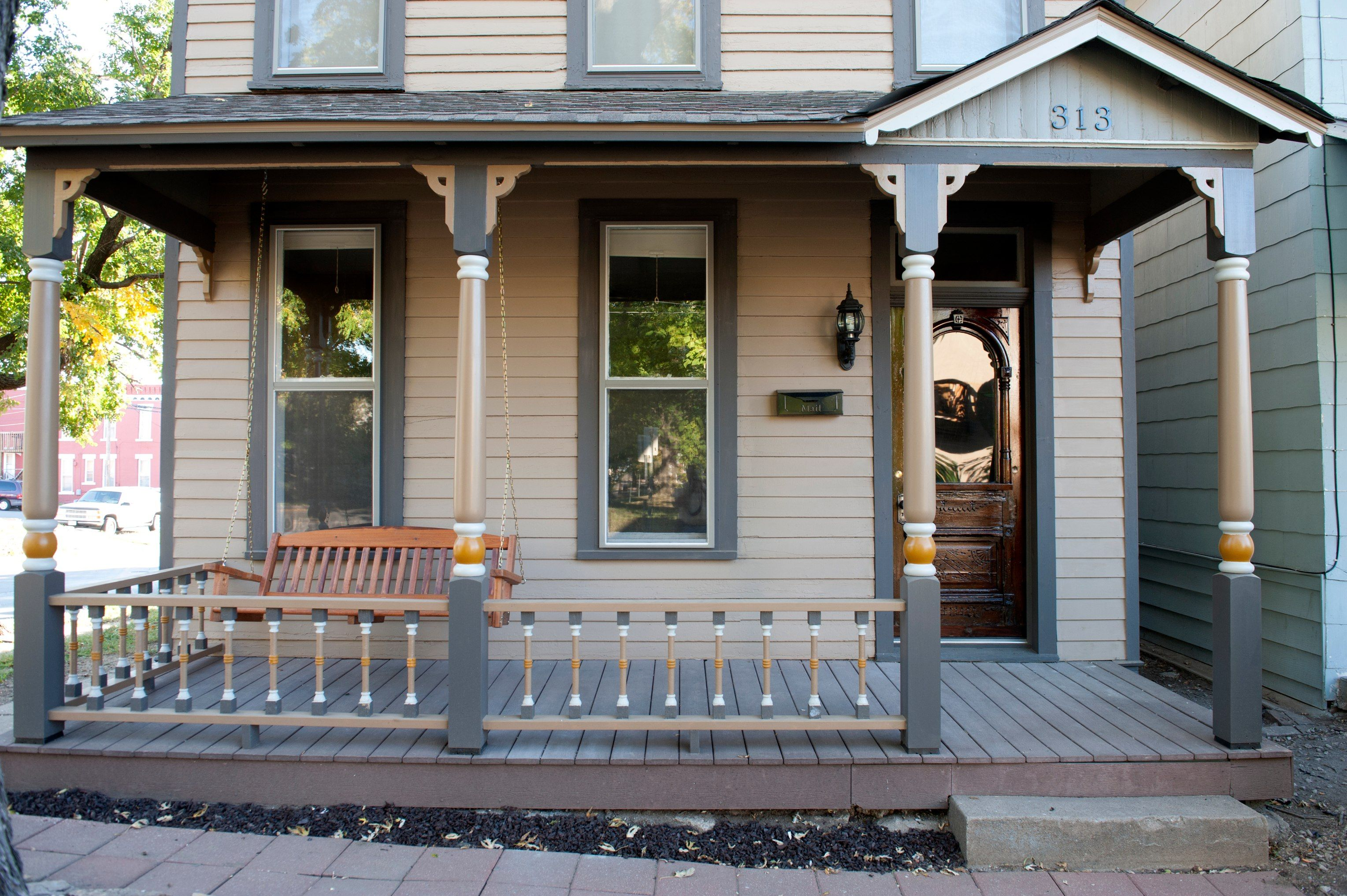Simple cornice for porch posts copy window trim to for Post designs for front porch