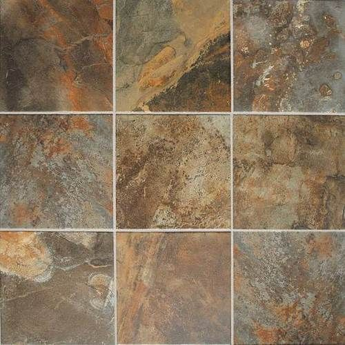 Kendal Slate Carlisle Black 12x12 Porcelain Flooring Olean Flooring