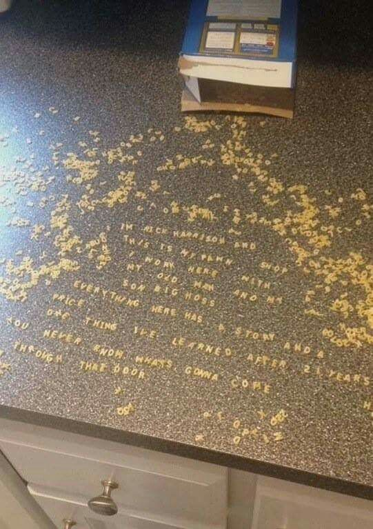 Spilled my alphabet soup:(