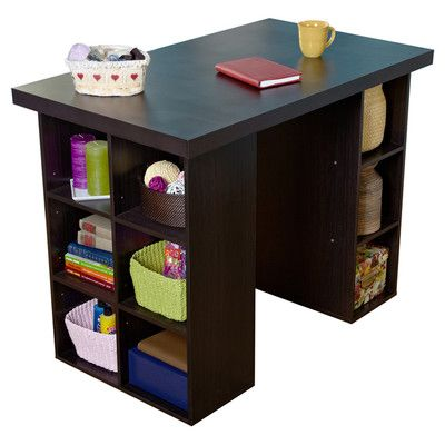 Tms Wood Craft Table Reviews Wayfair With Images Craft Tables With Storage Craft Table Craft Desk