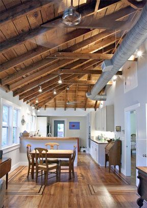Open Rafters House Design Open Ceiling Home