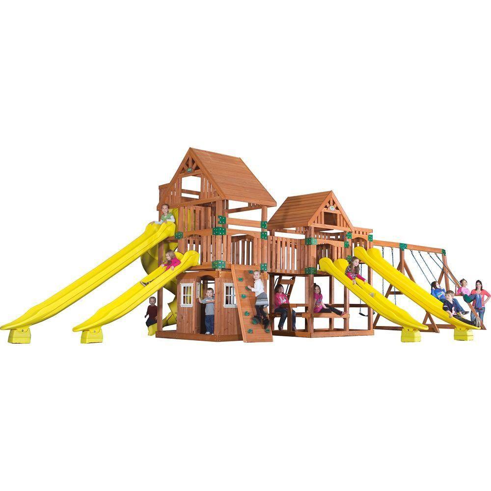 Backyard Discovery Safari All Cedar Playset, Browns/Tans | Backyard