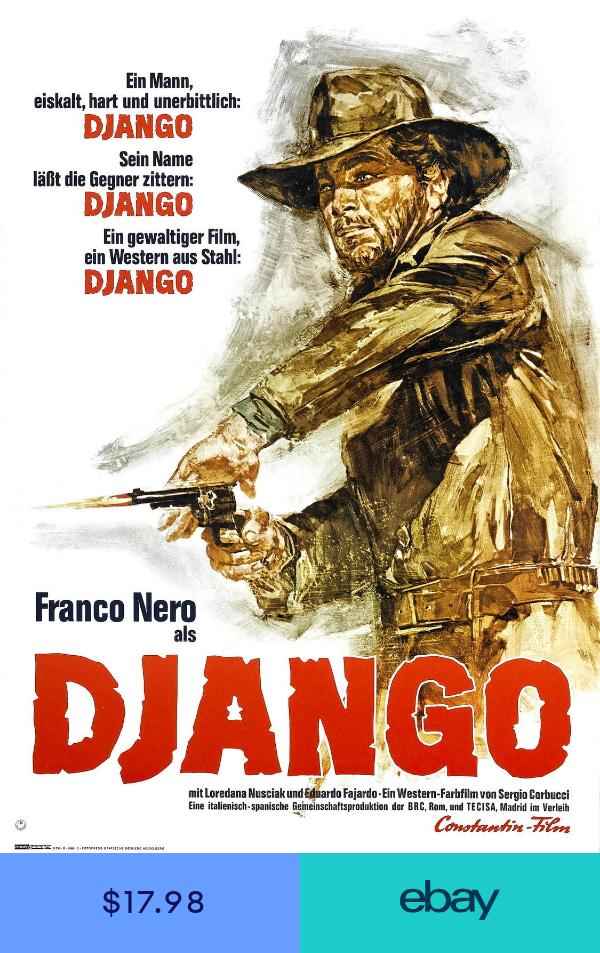 DJANGO Movie Poster RARE Western