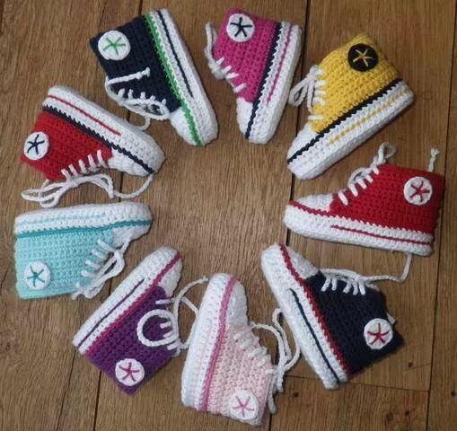 Bunte Schuhe Colors Pinterest Häkeln Baby Und Baby Turnschuhe