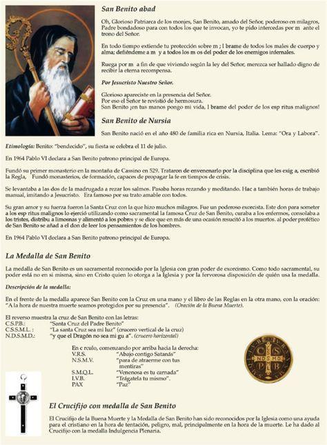 Oración Y Significado De La Medalla De San Benito Oraciones Oración A San Benito Libro De Oraciones