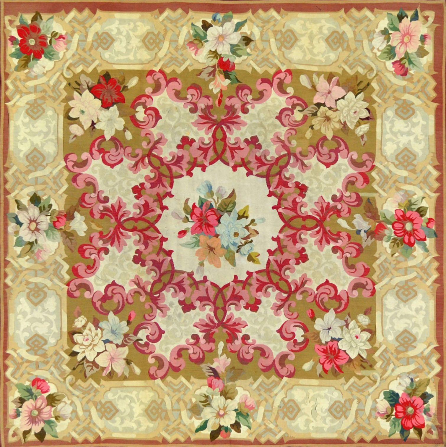 XIXth century Aubusson rug @ Boccara gallery