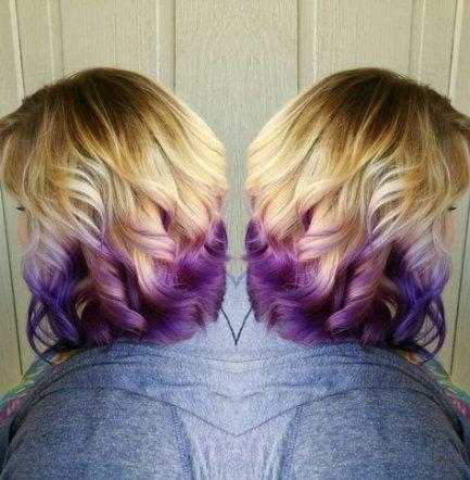 55 Trendy Hair Blonde Purple Short Blonde Hair With Purple Tips Hair Ombre Hair Blonde