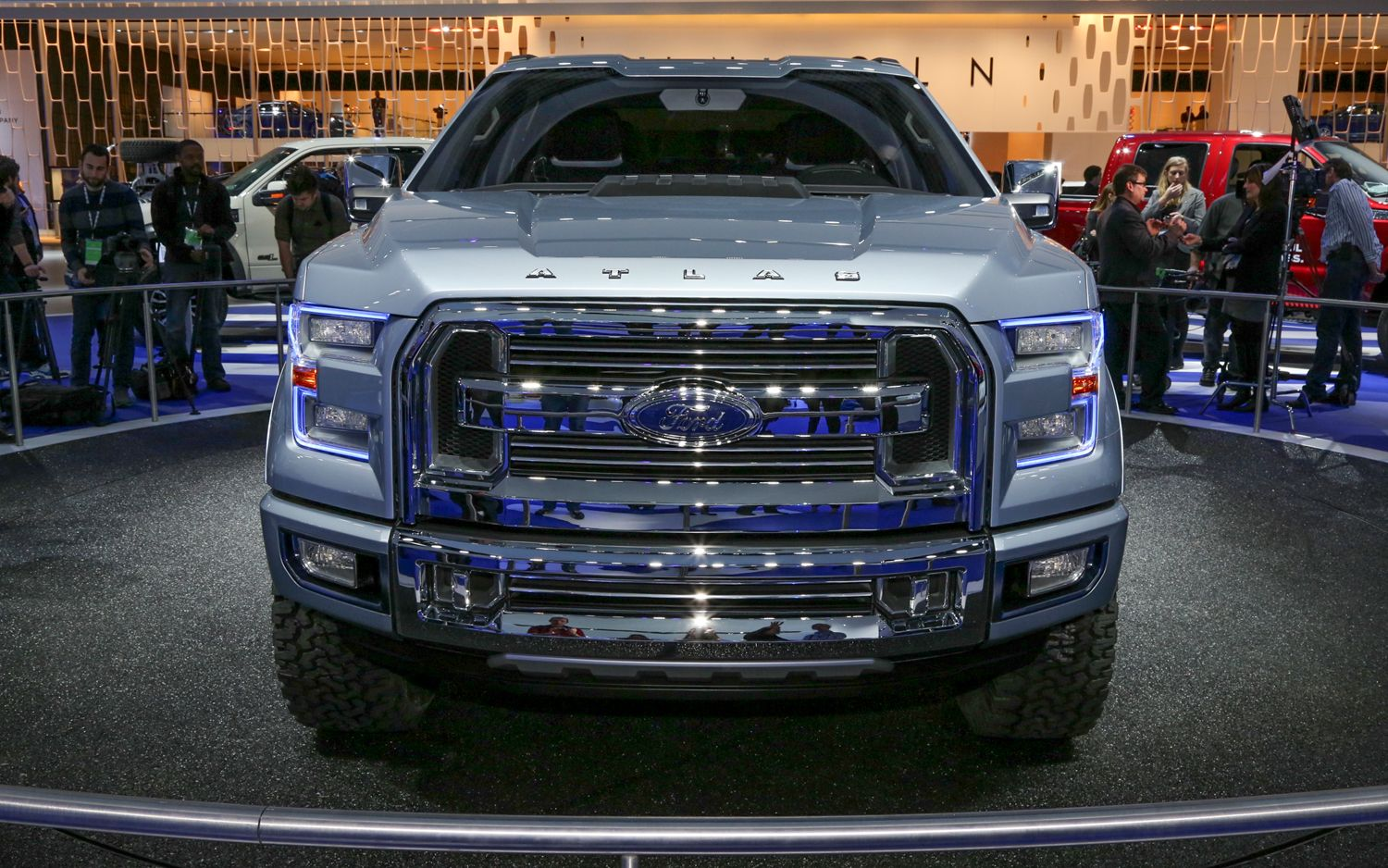 Awesome Ford 2015 F 150 Atlas Car Images Hd Concept Front End 2 Photo