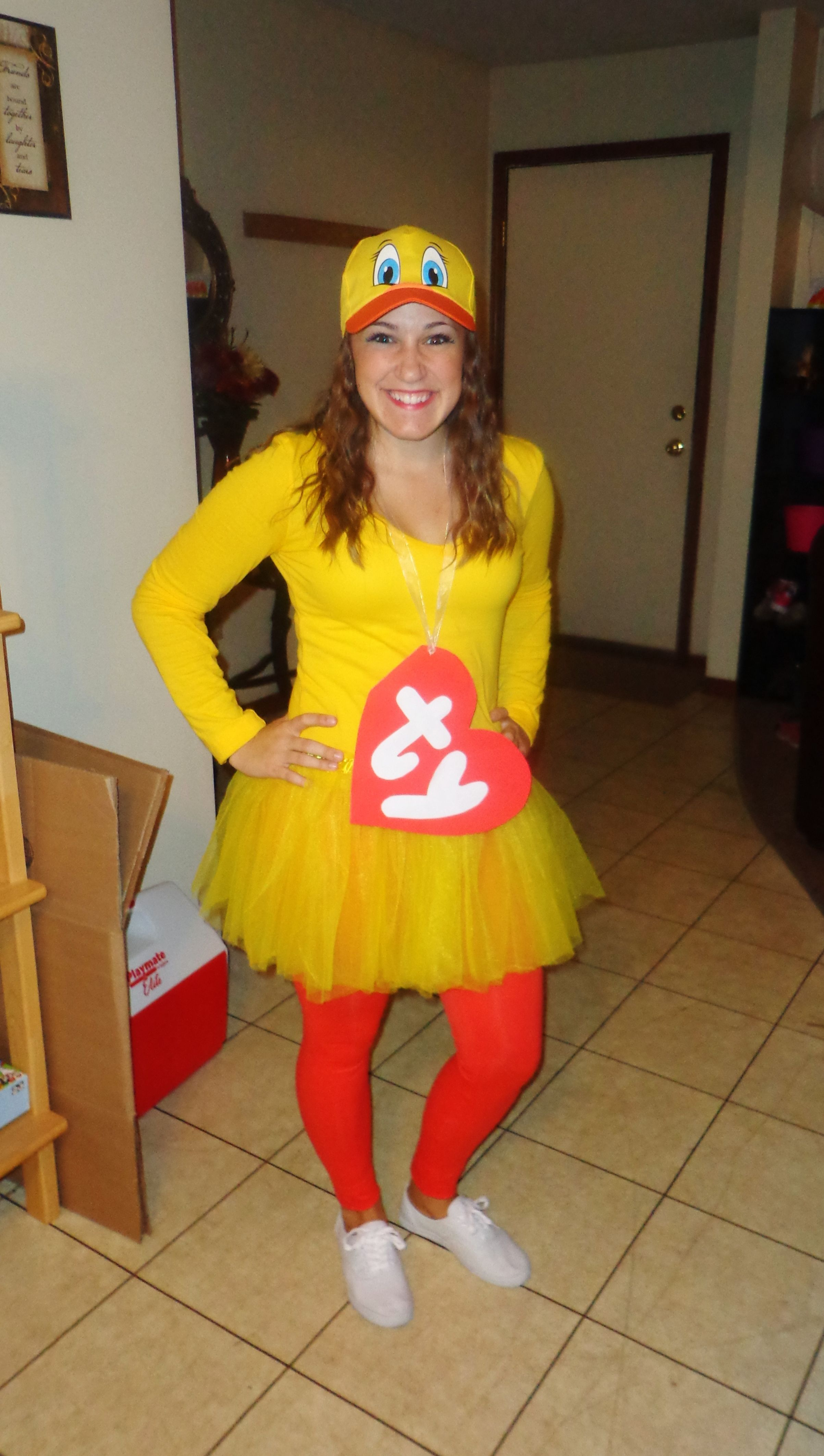 super easy halloween costume ty duck beanie baby