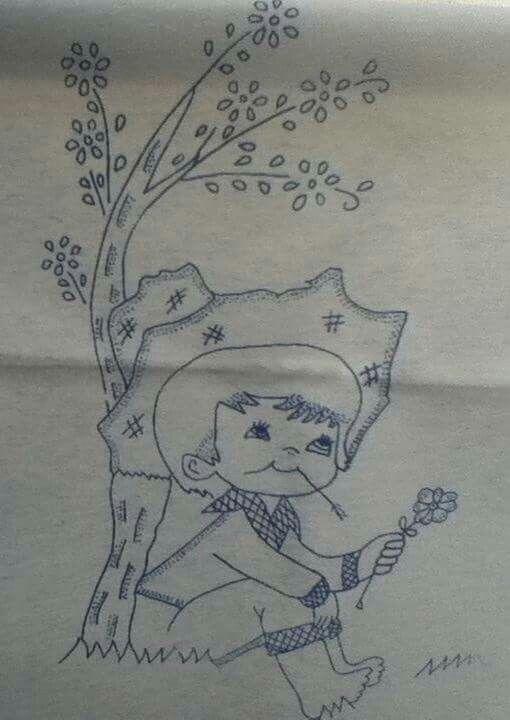 Pin de BERE en niñas para bordar | Pinterest | Pintar en tela ...