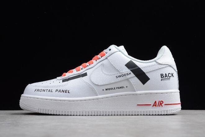 Nike Air Force 1 07 Frontal Panel Black Swoosh