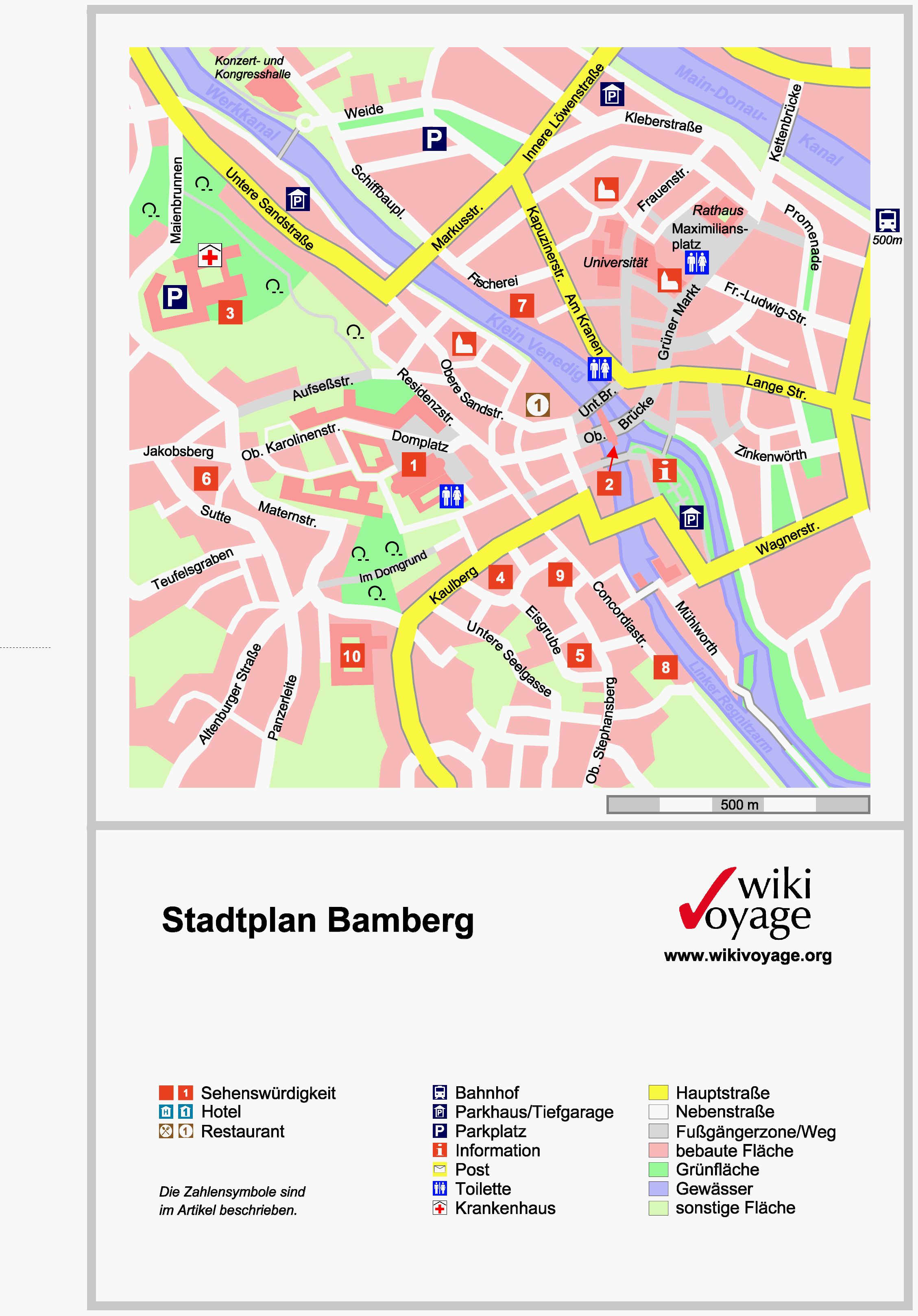 tourist map of bamberg germany see more at
