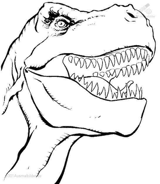 Ausmalbilder Dinosaurier Kopf | Decoupage3 | Dinosaur coloring