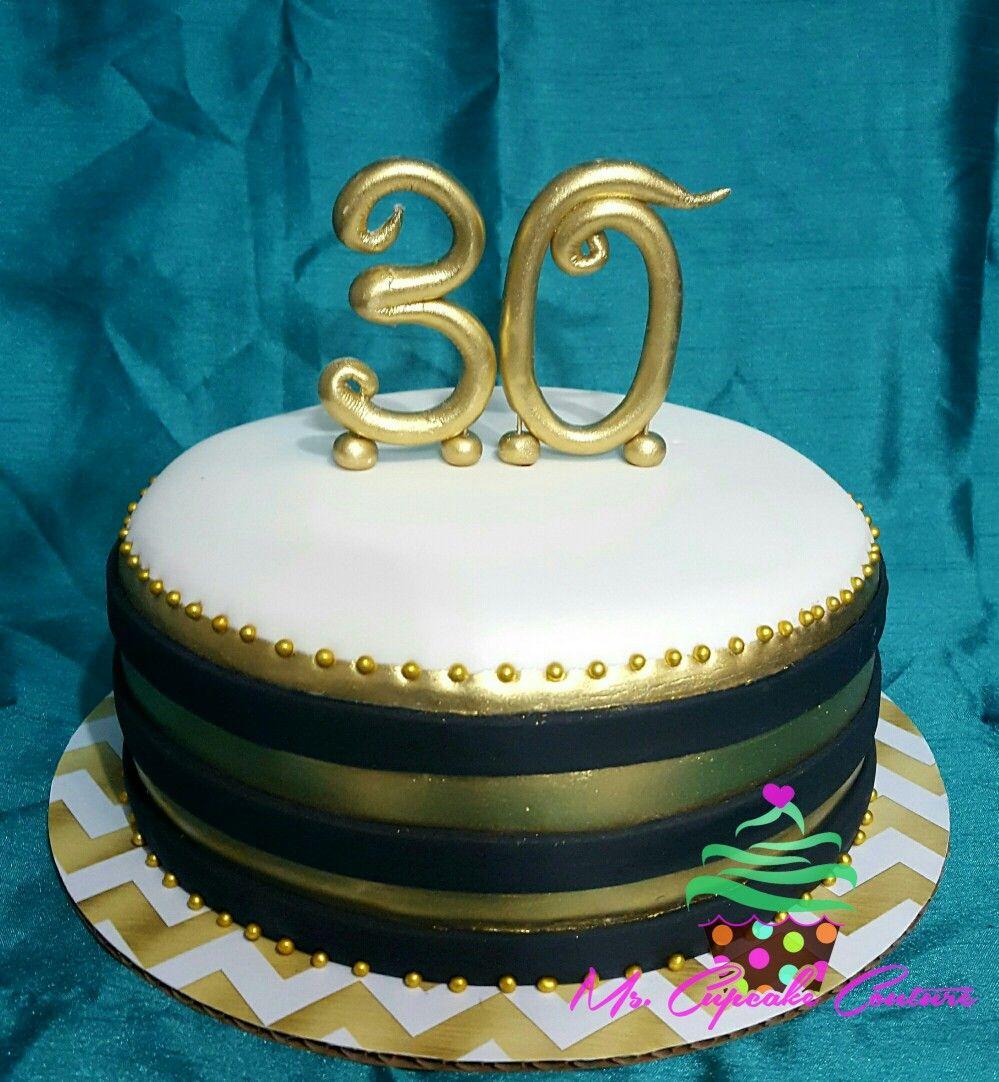 Black & Gold 30th birthday cake 30 birthday cake