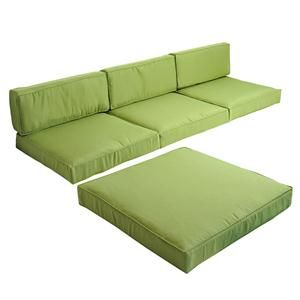 Usd 49 99 Replacement Cushion Covers For 5pc Outdoor Rattan Sofa Set Gr Green