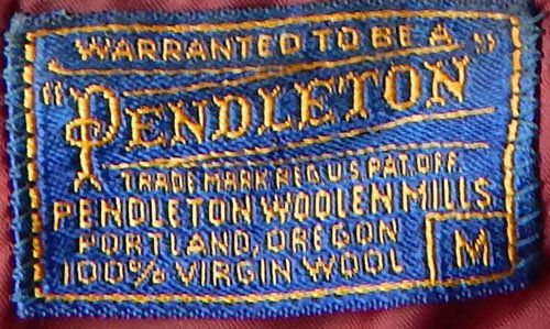 from a 1960s shirt - Courtesy of EndlessAlley | Pendleton