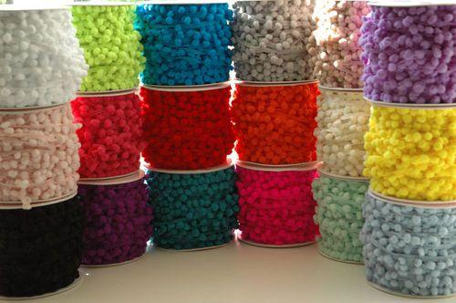 ♥Mini Pompom 6mm ♥ 1 3 or 5 M ♥ 17 Colours Ribbon Trim Bobble Braid Christmas ♥   eBay