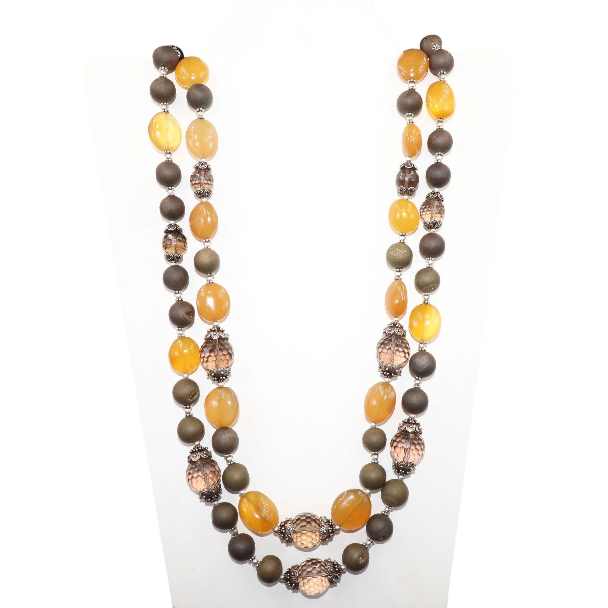 Photo of Valentinstag-VERKAUF! Golden Pyrite Druzy Beads & Rauchquarz Achat handgefertigt …