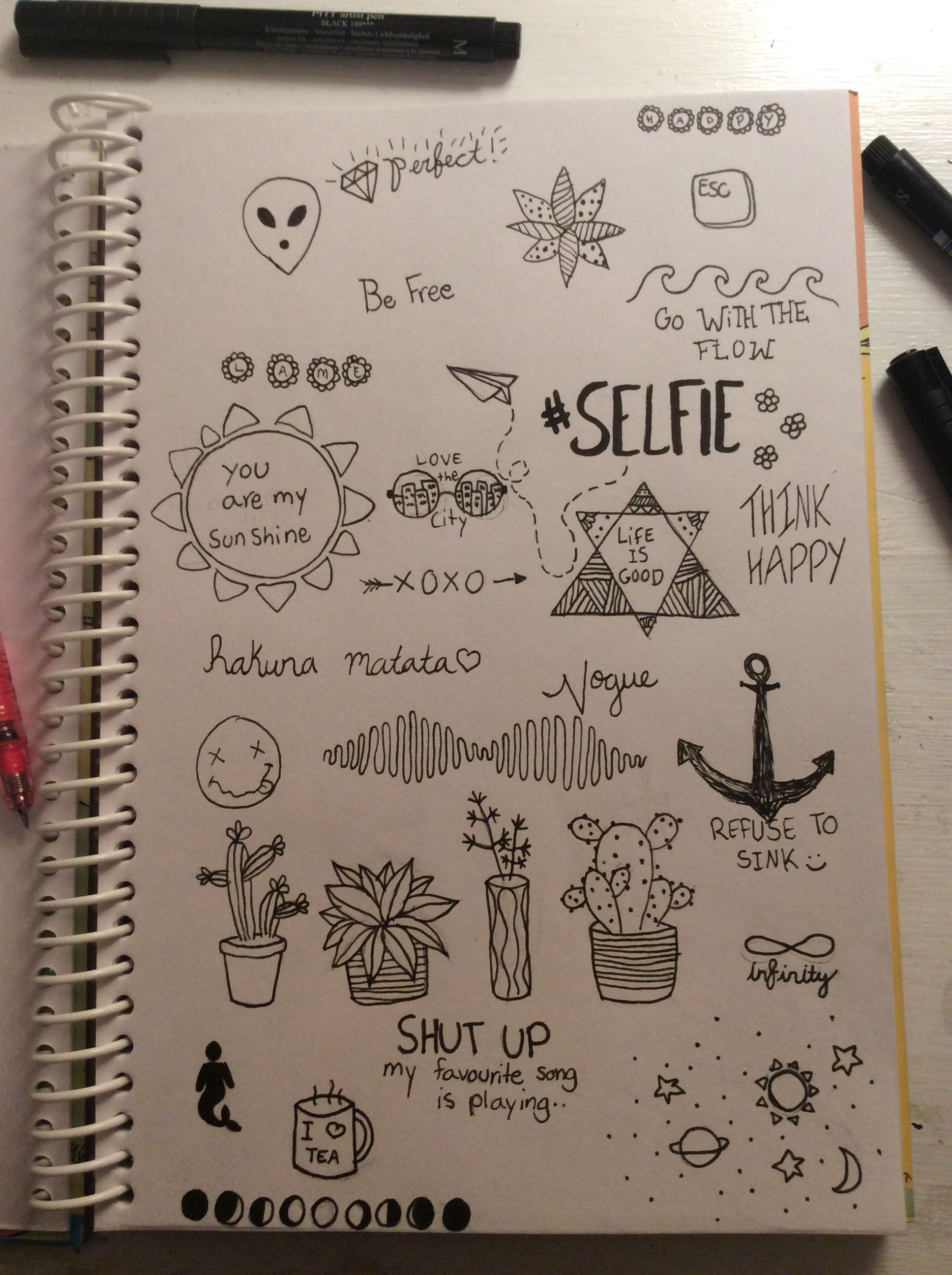 Random Doodles With Images Notebook Drawing Cool Notebooks
