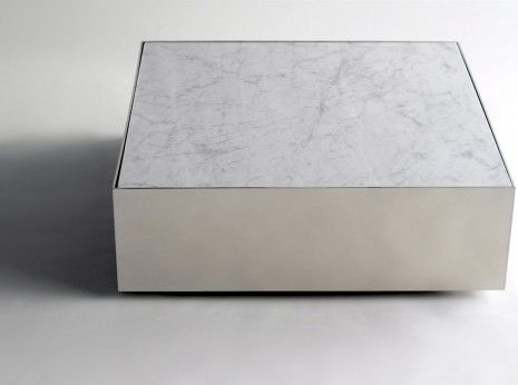 Marble Ballot Table Phase Design Polished Steel