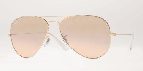 56e04de35 Ray-Ban Aviator Large Metal Sunglasses Rb3025 001/3E Arista Crys Brown Pink  Silver Mirror - http://www.styledetails.com/ray-ban-aviator-large-metal  |  what ...
