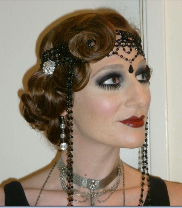 1920's hair and make- love
