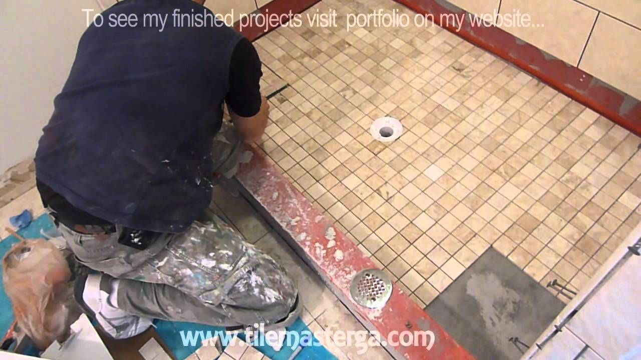 Part 4 How To Tile Shower Floor Shower Pan Mud Bed